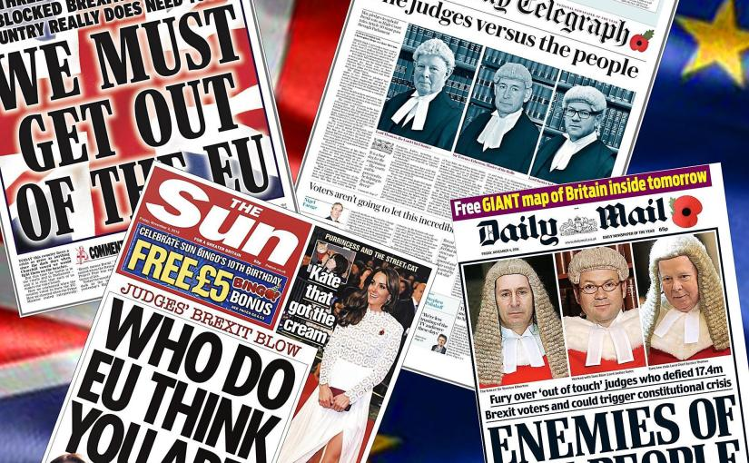 The Media Coverage of the Article 50Litigation